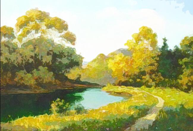水彩画风景教程步骤图片