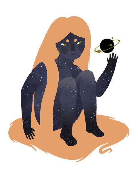 【视觉艺术社每周精选】星空与女孩子的神秘——插画