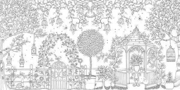 满足你的小清新,无关法语,Jardin Secret手绘本电子版下载