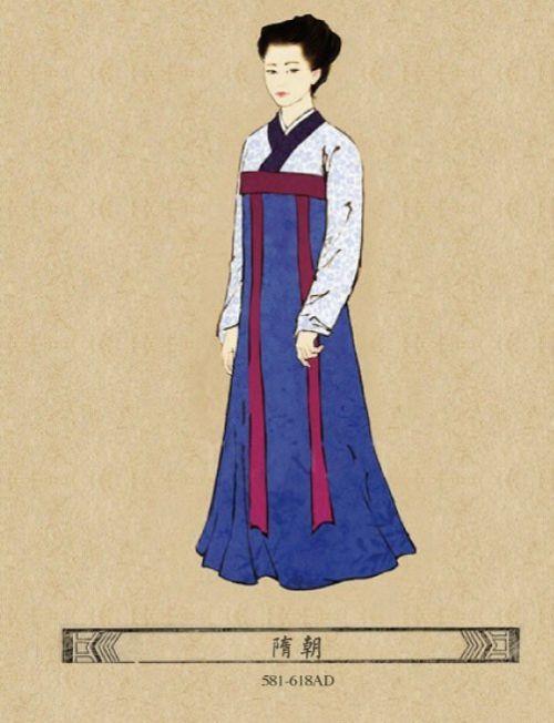隋朝时期,服饰更加小巧贴身~设计更人性化~-中国不同时期女子的时图片
