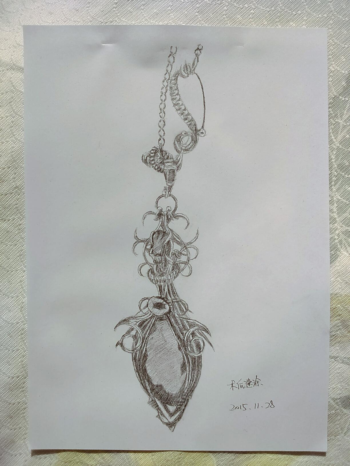 珠宝设计图铅笔