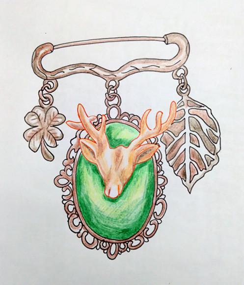 彩铅画珠宝步骤图片