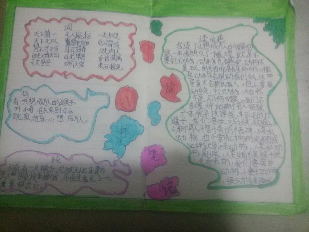 读书笔记_铜川青岛路小学_v笔记-沪江小学刘江社团双阳图片