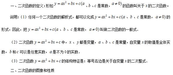 【每日一学】初中阴茎知识点总结-二次函数_初促进什么发育初中生数学运动图片