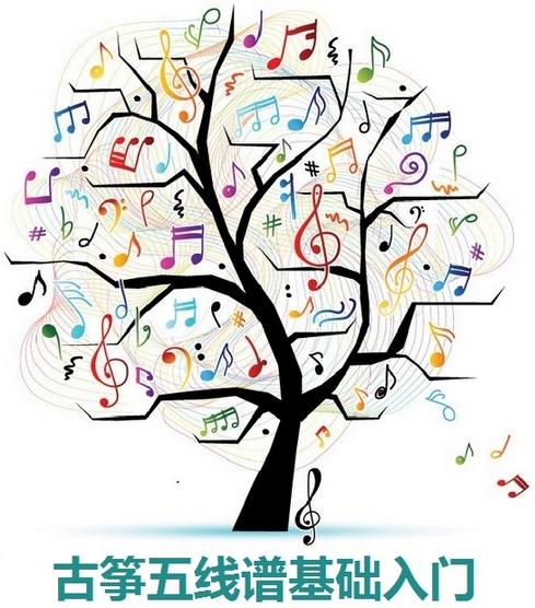 学习高音谱表四个音
