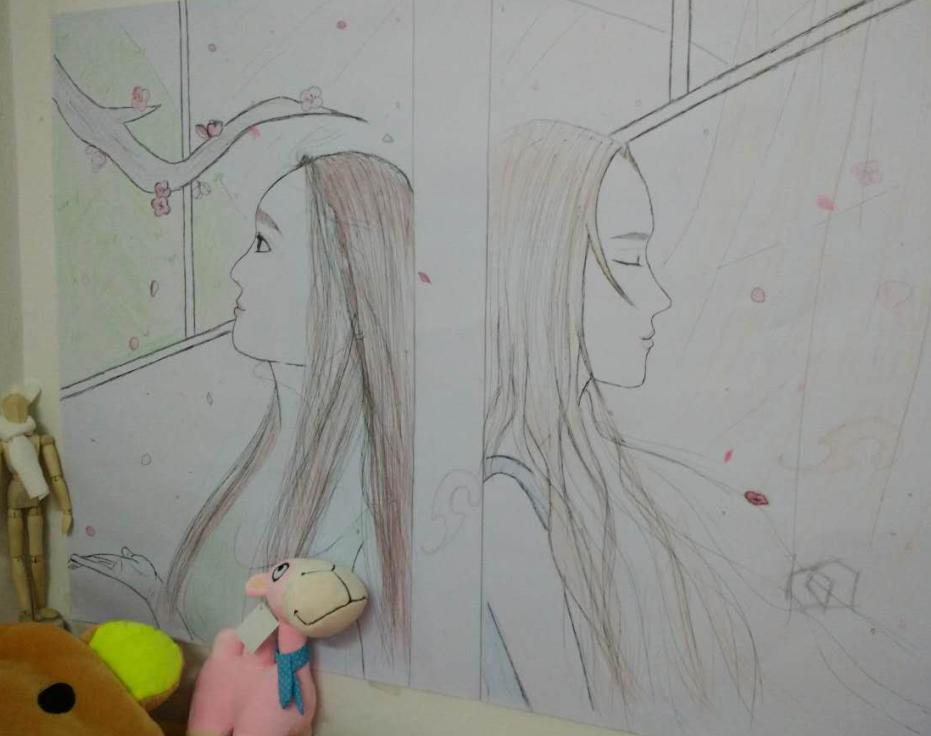 画画--那么远,那么近。_素描章鱼社_v素描-沪江的漫画漫画图片图片