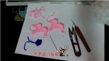 【钩针教程】玩玩毛线之午马挂件