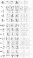 【学习干货】日语五十音平假名、片假名笔顺图(转载)