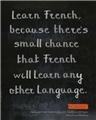 【开心一刻】我们为什么要学法语