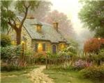 梦境般的乡村小屋唯美插画图片欣赏