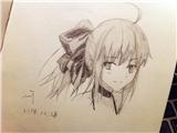 【临摹】傻巴lily(的头)【喂