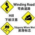 【实用词汇】交通标志大科普