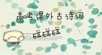 【高考课外古诗词碰碰碰】第二期:惆怅孤独