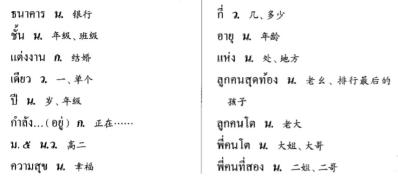 泰语进阶:基泰2第2课词汇(下)作业帖