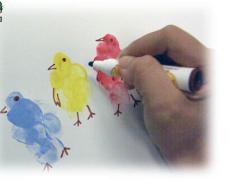 【指印画全集】创意指印画大全之完整风景指印装饰画教程