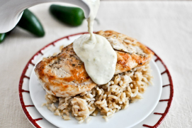 Main Course - Caramelized Chicken with Jalapeno Cream