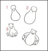 【跟我来学简笔画】今天教大家学习如何画可爱的黑熊哦~~