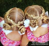 好漂亮的姐妹发!