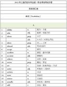 【资源分享】2013年上海市中考英语词汇完整版下载