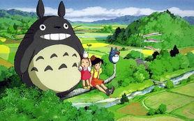 这是几张宫崎骏电影中的图片