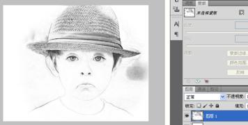 【Photoshop 进阶笔记】人物转素描