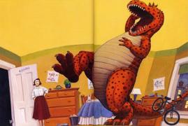 【回味童年 英语原版童书(九)】恐龙是怎么道晚安的