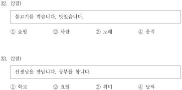 【每日一阅】TOPIK初级—4.13阅读训练(46)