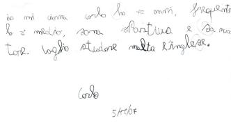 你能写一手漂亮的意大利文吗?