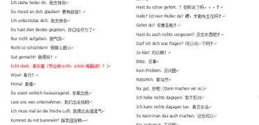 【德语常用交流】那些生活中常用的句子用德语怎么说呢?~