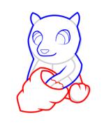【跟我来学简笔画】今天教大家学习如何画黑熊哦~~