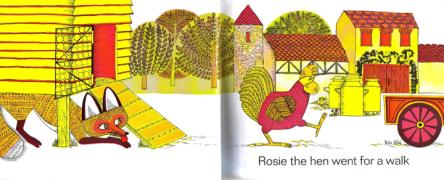 【回味童年 英语原版童书(五十九)】母鸡罗斯去散步