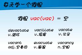 【每天学一个词根】vac(vas) = empty(空)