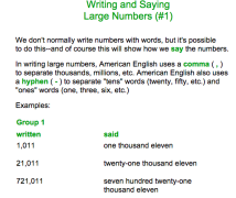17学习: Writing and Saying Large Numbers in English (如何使用英语来读写数字)