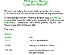 17学习: Writing and Saying Large Numbers in English (如何使用英语来读写数字)