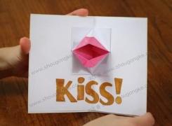 「手工课」の第二十课:KISS手工贺卡 情人节快乐