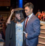 南安普顿大学2015毕业典礼 北京男生向台湾女同学成功求婚