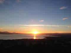日内瓦湖上的日落