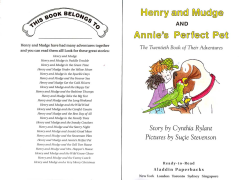 Henry and Mudge and Annie  s Perfect Pet (February 2001)