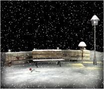Tombe la neige, 落雪了