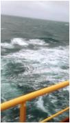 刚刚回来,最近刮大风,海上航行真的好危险