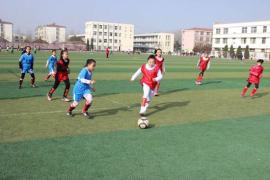 徐州市铜山区中小学校园足球赛在利国镇中心中学举行