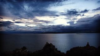 青海湖 等不到日出。