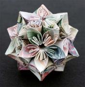 """折纸艺术:""""钱眼""""里开出纯美花朵"""