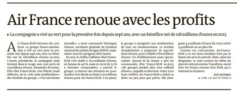 【法新闻摘读 Vol.8】Air France renoue avec les profits