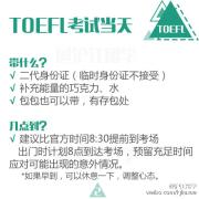 【爽身粉】初战必看!最完整真实的托福考试当天全流程