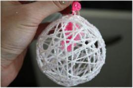 「手工课」の第一百一十二课:毛线装饰球DIY教程
