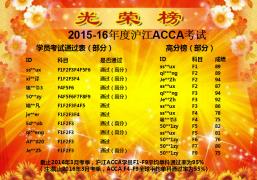 【ACCA考试】2015-16年度ACCA考试成绩放榜啦!!!