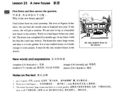 【新概念学习计划】B2L23——A new house